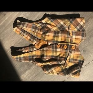 Vintage Style Plaid Vest
